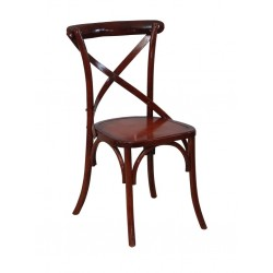CROSS BACK RUSTIC CHAIR